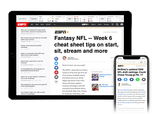Explore ESPN+ Premium Articles